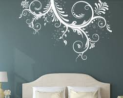 Swirl Wall Decal Etsy - Family room wall decals