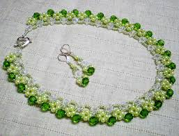 crystal necklace patterns images Free pattern for necklace may day beads magic jpg
