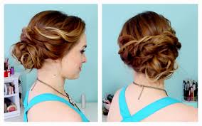 easy long hairstyles updos 5 minute romantic bun hairstyle easy
