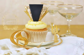 deco cake topper celebrate in style how to make gold deco cupcake toppers