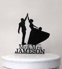 high five cake topper personalized wedding cake topper high five with mr mrs