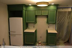 Kitchen Top Cabinets Refrigerator Wall Cabinets Finished