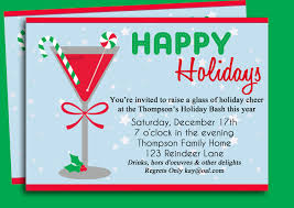 Invitation Card For Reunion Party Christmas Cocktail Party Invitation Printable Holiday
