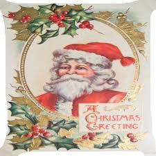 santa claus flower merry celebration greetings pillow