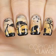 sunday stamping wildlife nail art copycat claws wildlife