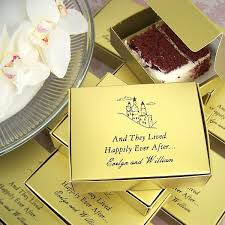 personalized wedding favor boxes 5 x 4 custom printed cake slice favor boxes set of 50