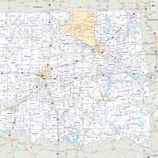 Mdc Map Oklahoma Highway Wall Map Mapscom Airline Seat Maps