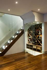 Wine Cellar Basement Walnut Veneer Wine Boxes Inside The Contemporary Wine Cellar