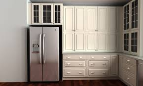 Metal Kitchen Cabinet by Kitchen Amusing Over Refrigerator Kitchen Cabinets With Double