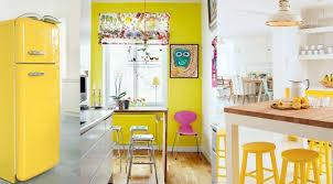 decoration de cuisine cuisine jaune décoration cuisine jaune