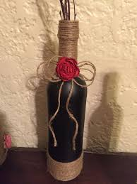 How To Decorate A Wine Bottle 122 Best Craft Ideas Images On Pinterest Decorated Bottles Wine