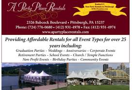 party rentals pittsburgh mihm a party place rentals party equipment rentals 2326