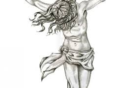 jesus cross tattoo sketch pictures to pin on pinterest tattooskid