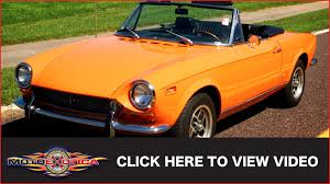 fiat spider 1978 1972 fiat spyder 2 2 sport 124 sold youtube