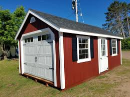 Overhead Shed Doors Prefab Garages Amish Made Prefab Garages For Sale Cape Cod Garage