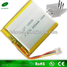 flat lithium polymer rechargeable battery 3 7v 3000mah lipo