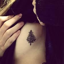 small pine tree side tattoomagz