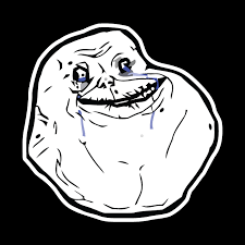 Forever Alone Meme Face - forever alone meme shaped sticker unixstickers