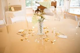 Gold Table Setting by Romantic 50th Wedding Anniversary Party The Celebration Society