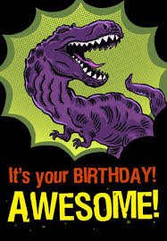 awesome birthday cards t rex awesome birthday card greeting cards hallmark