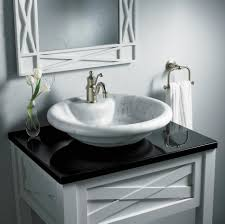 sink bowls on top of vanity bathroom inspiring bathroom remodeling idea with small white vanity