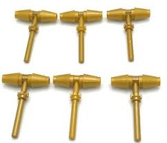 lego lot of 6 new gold hammer pieces thor golden weapon ninjago