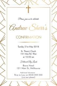 confirmation invitations communion and confirmation invitations gold blessings