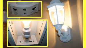 Motion Sensor Exterior Light Fixtures by Motion Sensor Light Youtube
