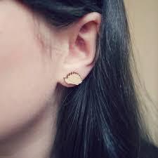 wood stud earrings wooden hedgehog stud earrings by pickle