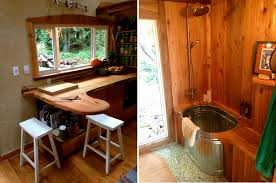 Tiny Home Bathroom by Yoga Teacher Builds A Meditative 168 Square Foot Tiny House Haven
