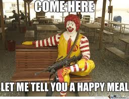 Ronald Mcdonald Phone Meme - threatening mcdonalds ronald mcdonald by jim ivanov meme center