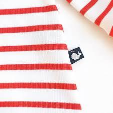 Baby Flag Hinreißendes Baby Kleid Aus Biobaumwolle Rot Weiß Gestreift