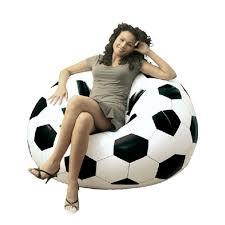 Leather Bean Bag Chairs For Adults Fashion Inflatable Sofa Air Soccar Football Self Bean Bag Chair