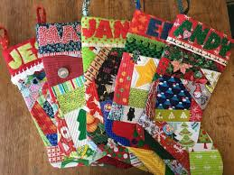 quilt as you go stocking workshop