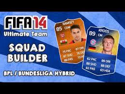 How To Make Your Own Ultimate Team Card - fifa 14 ultimate team squad builder bpl bundesliga hybrid