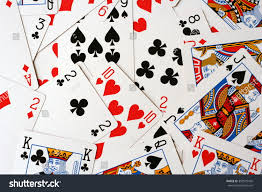 cards on the table royalty free play cards scattered on the table 392979439 stock