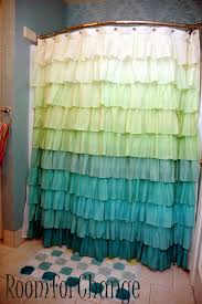 Turquoise Ruffle Curtains Matching Wallpaper And Shower Curtains Wallpapersafari