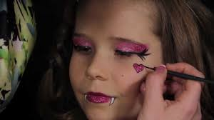 kids halloween vampire makeup monster high draculaura makeup tutorial youtube