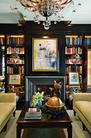 new satin black painted bookcases masculine living rooms living