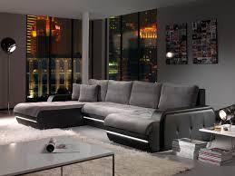 canap angle canapé d angle fixe design en tissu gris pu noir alamak canapé en