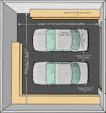 Four Car Garage The Dimensions Of An One Car And A Two Car Garage