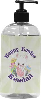 personalized easter bunnies easter bunny plastic soap lotion dispenser personalized