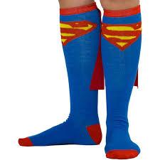 Super Socks Amazon Com Bioworld Superman Blue Knee High Cape Sock