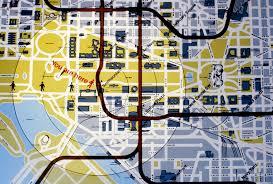 Washington Dc National Mall Map by Dc Metro Maps