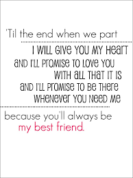 wedding quotes for best friend best friend vows my quotes