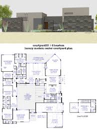 courtyard house plans custom contemporary modern plus home trends