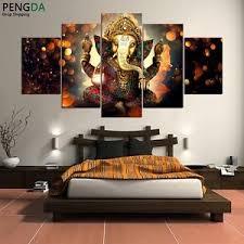 5 pcs ganesha painting abstract print modern canvas wall art