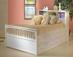 august beach full size big bookcase storage bed transitional with