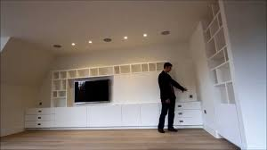 Wall Units For Televisions Bespoke Built In Media Tv Unit Uk Youtube