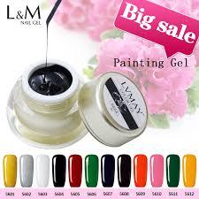 lvmay brand nail gel polish 12 color gold silver white black